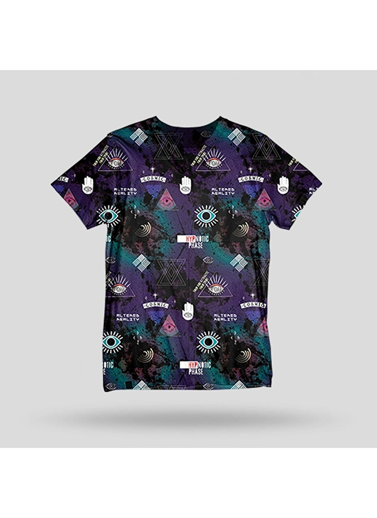 John Frank Tişört Jftd36-hypnotıc Baskılı Dijital T-shirt – 79.99 TL